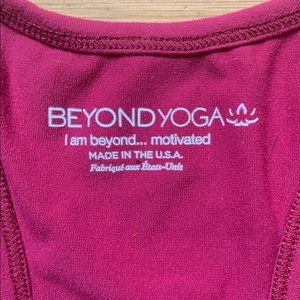 Beyond Yoga Tops - Raspberry Beyond Yoga crop top